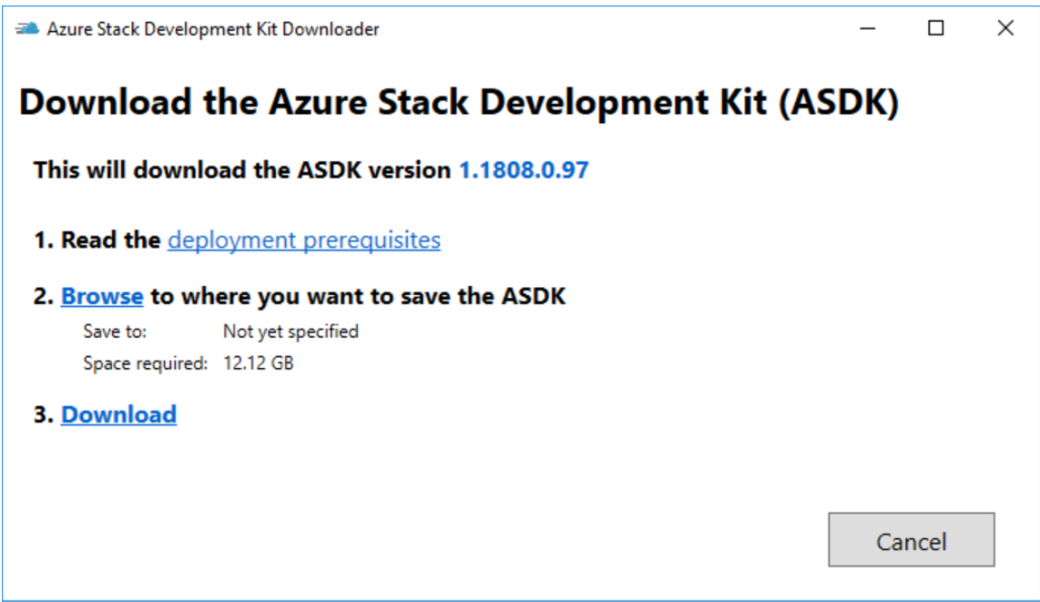 How to Install the Azure Stack Development Kit – ADFS (Disconnected